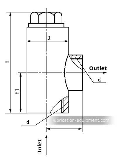 Aceite hidráulico vertical válvula de retención DXF
