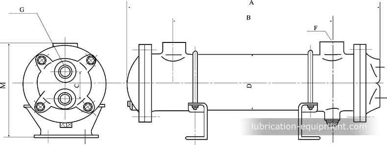 LC-tube refroidisseur à Dimensions