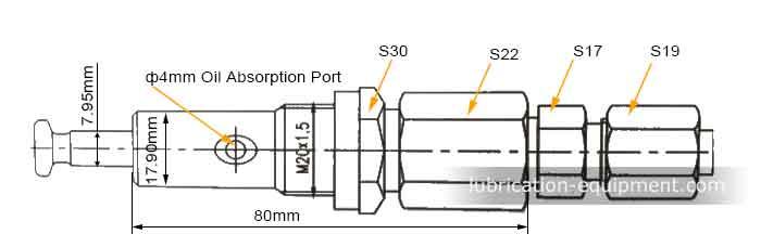 Размеры элемента насоса DDB